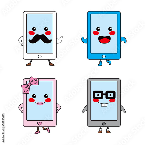Cute Tablet Characters