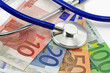 canvas print picture - stethoskop mit euro