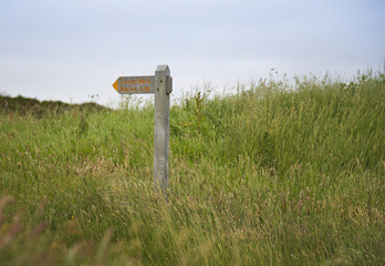 Dunkery Beacon signpost