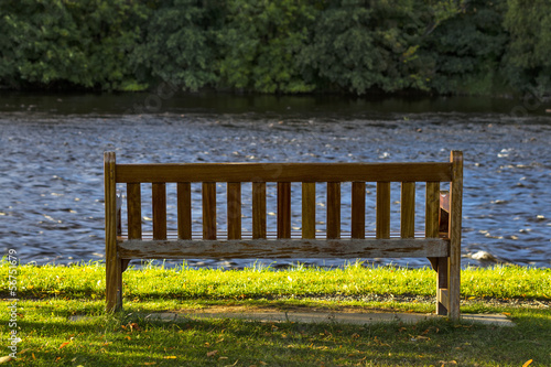 A BENCH BY THE SPEY