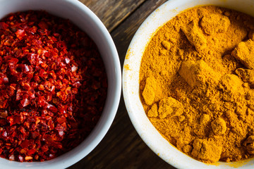 Chili pepper and turmeric