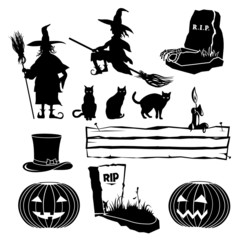 Halloween Set of Silhouettes