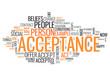 "Word Cloud ""Acceptance"""