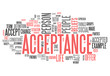 "Word Cloud ""Acceptance"""