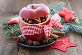 Fototapety roter Apfel mit Schleife