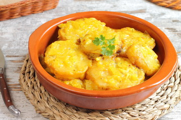 Patatas a la importancia, tradicionales de Palencia, España