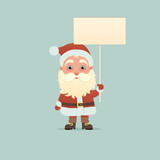 Santa Claus with signboard