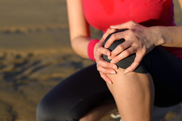 Knee runner injury