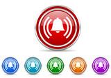 alarm icon set