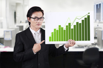 Businessman Pointing a Chart