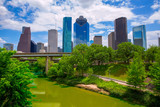 Houston Texas Skyline with modern skyscapers poster
