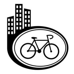 Bicycle black city icon