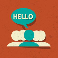 Vector Hello Speech Bubble