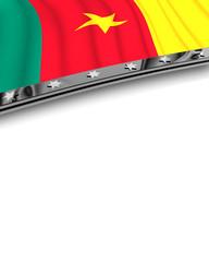 Designelement Flagge Kamerun