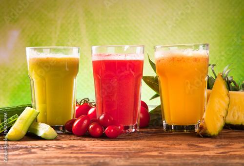 juice on wood