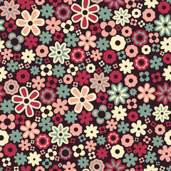 Flower pattern. Seamless background.
