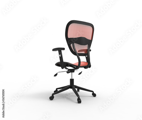 Red Office Chair Back Side View