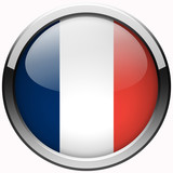 official france flag gel metal button