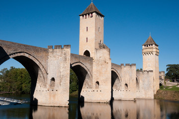 Valentre bridge in Cahors, France