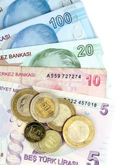 Turkish lira, banknotes and coins