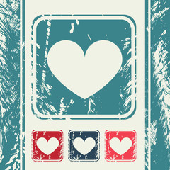 a creative icon in grunge style, eps10 vector