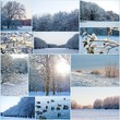 canvas print picture - Winterlandschaft