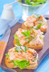 toast with salmon
