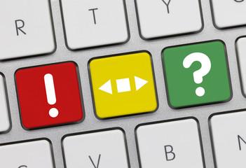 Fragen antworten Tastatur