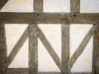 detail of half timber frame wall