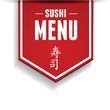 Sushi bar menu with japanese characters