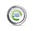 24 hour service seal illustration design