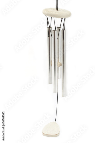 Wind chimes isolated on white