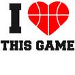 I Love This Game Basketball Logo Design