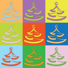 Farbiger Weihnachtsbaum