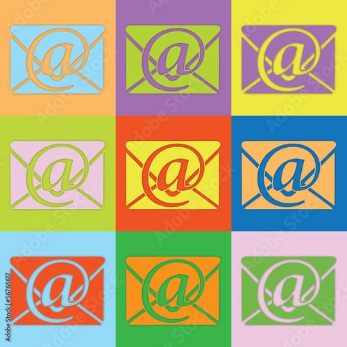 Farbige e-mail