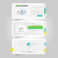 Website template elements:Personal VCard template