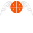 Basketball Angel Wings Design