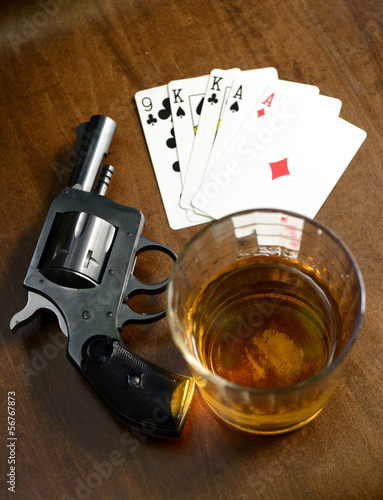 winning hand and a deadly poker game