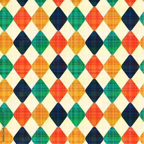 seamless abstract geometric rhombus pattern - 56768264