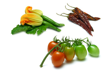 fruits and vegetables isolated