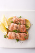 top of salmon steak