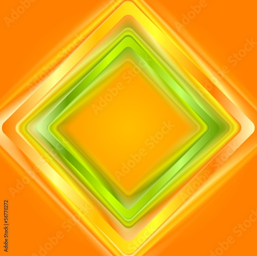 Colourful abstract squares. Vector logo