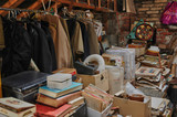 old objects in an attic in Normandie - 56770839