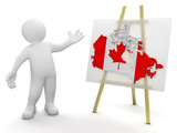 Man and Canada map (clipping path included)
