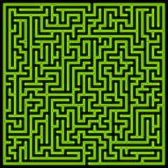 Glowing green maze