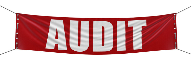 audit banner (clipping path included)