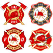 Set of fire department emblems and badges - 56772676