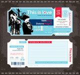 Ticket Wedding Invitation Design Template