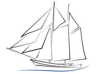 design vieux bateau à voile