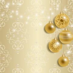 シャンパンゴールドのクリスマス